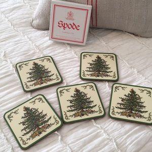 Spode Christmas Tree beverage coasters/set of 5